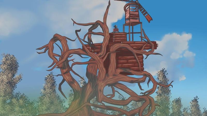 Дом на дереве Угнали вертолет у клана в Раст Rust