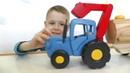 Игрушки из мультика про Синий трактор для детей