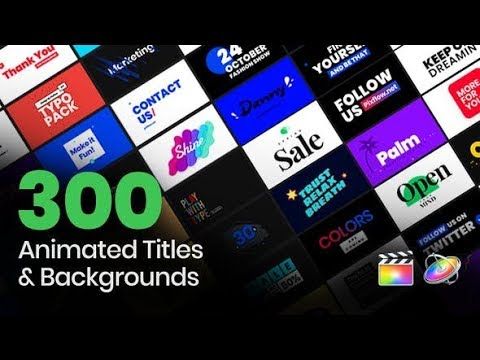 TypeQueen Titles Backgrounds for FCP videohive