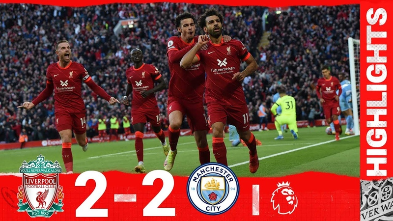 Highlights Liverpool 2 2 Man City Salah's sensational strike in thrilling draw