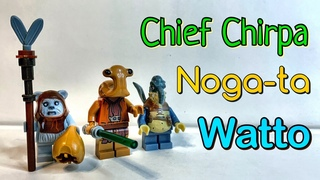 Очень Редкие Фигурки Noga-ta Chief Chirpa Watto Star Wars