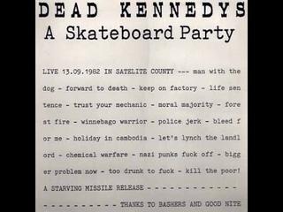 Dead Kennedys :: Live  Alabama Halle, Munich, West Germany, 12/13/82 [SOUNDBOARD]
