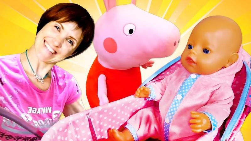 Беби бон Аннабель и свинка Пеппа Видео для девочек на английском языке