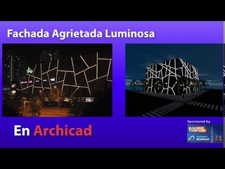 #ARCHICAD TUTORIAL Fachada Agrietada Luminosa en Archicad  #CRACKED LIGHT FACADE IN ARCHICAD