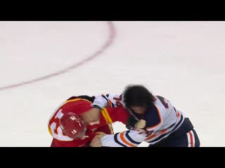 Gotta see it_ goalie fight! mike smith fights cam talbot as oilers flames erup