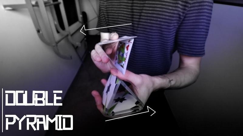 Cum sa faci o piramida dubla din carti de joc Cardistry Tutorial Sunday