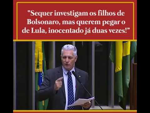 Não investigam os filhos de Bolsonaro e sim os do Lula