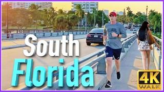 【4K】WALK FORT LAUDERDALE Florida USA 4K video Travel vlog SLOW TV