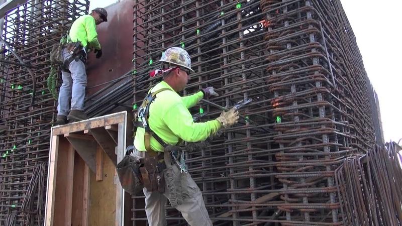 High Rise Building Core Rebar Post Tension Slabs