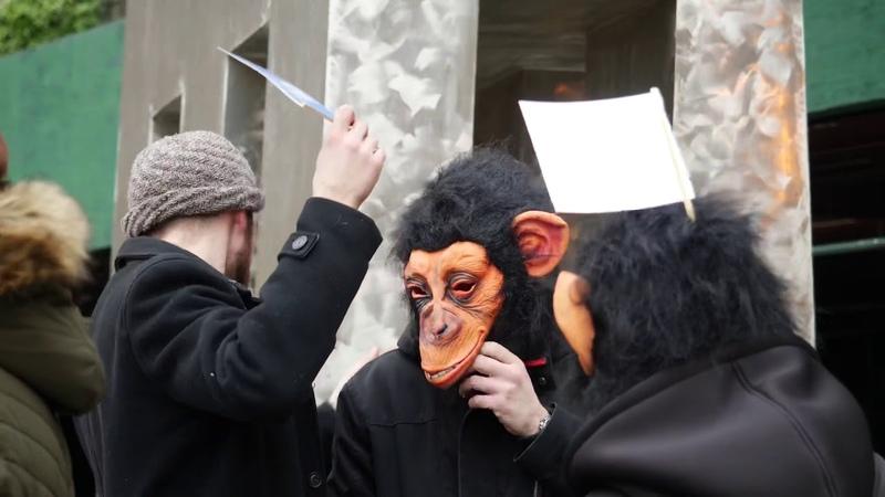 """Акцыя «Кара Беларускай Незалежнасьці Protest-performance """"Execusion of Belarusian independence""""."""