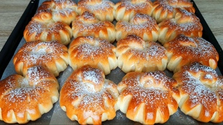 ЛЮБИМЫЕ  БУЛОЧКИ! Простой рецепт булочек с повидлом! / Yeast buns with jam!