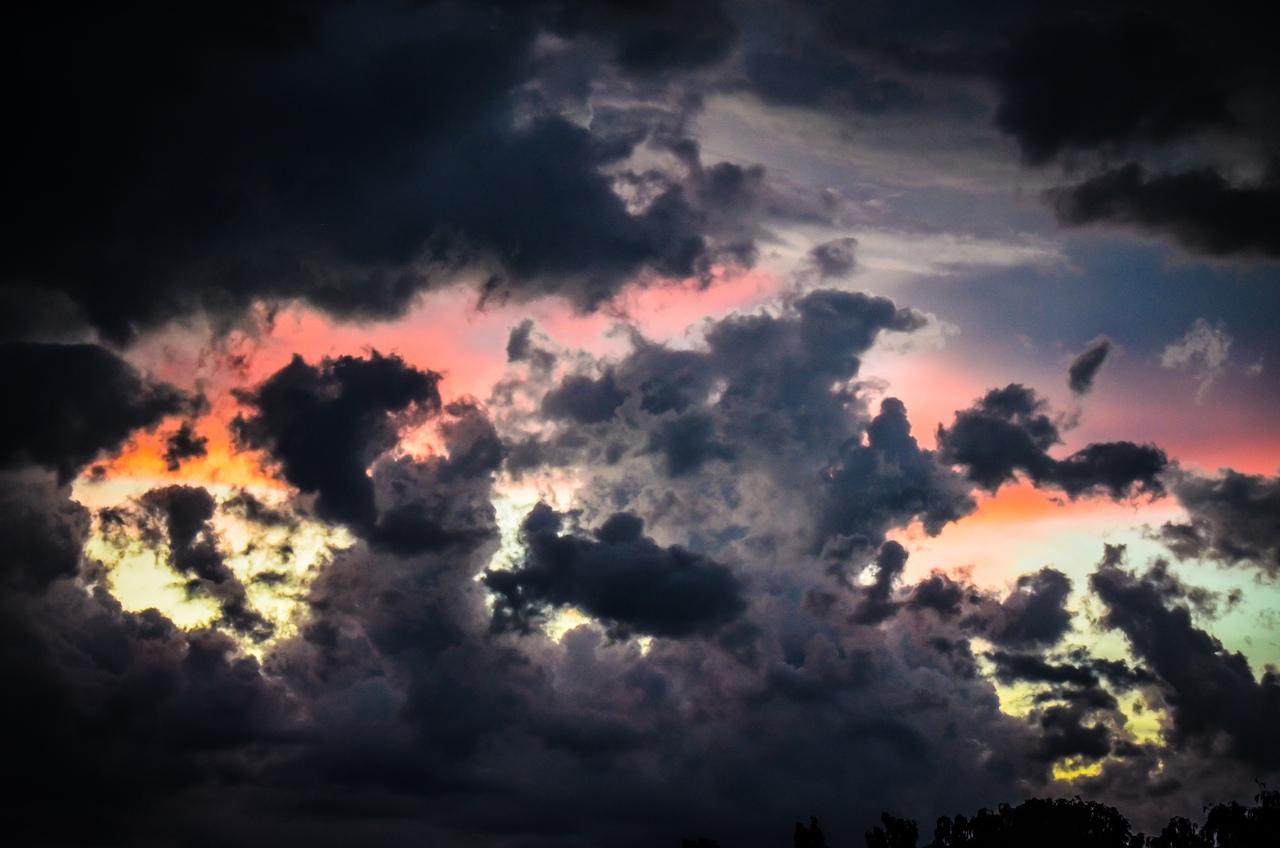 Вчерашняя гроза и дождь стимулировали брестчан на творчество: смотрите, как красиво