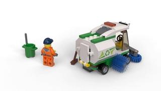LEGO / Конструктор LEGO City Great Vehicles 60249 Машина для очистки улиц - Сборка